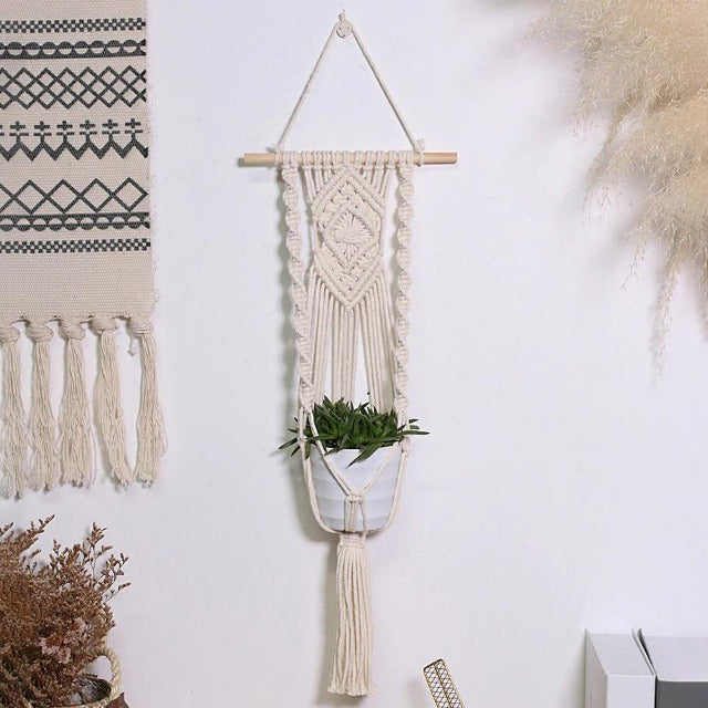Suspension Macramé Pot de Fleur 'Coty'