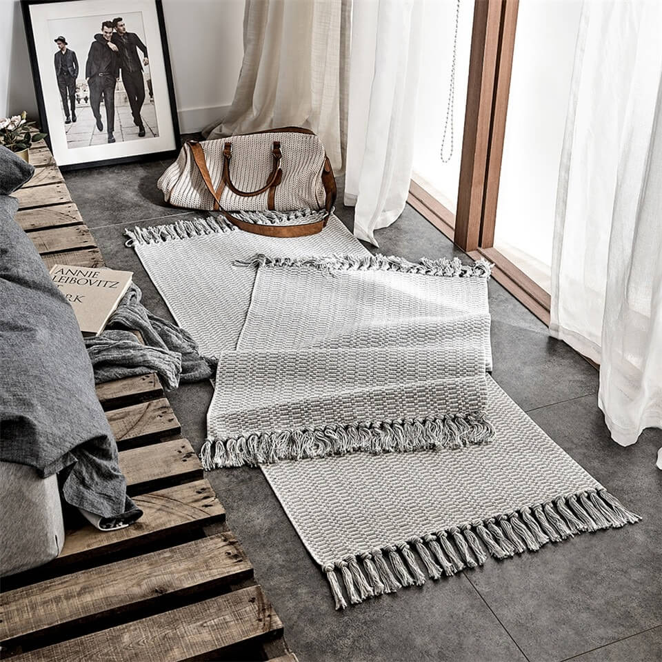 Tapis Cocooning Gris 'Clay'