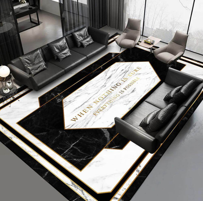Tapis Luxury Black x White