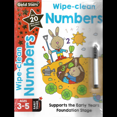 Gold Stars Wipe clean Numbers