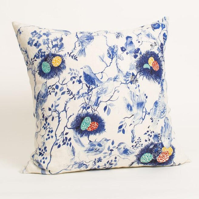 Birds Nest Pillow-Olivia Wendel