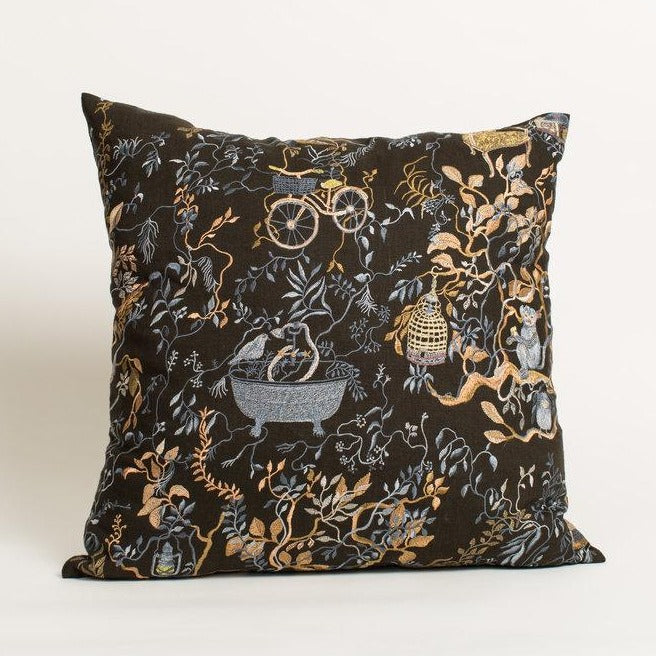 Wonderland Midnight Pillow-Olivia Wendel