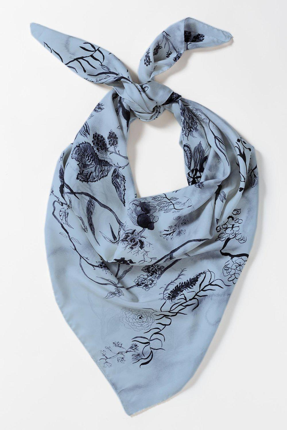 Blue Bloom Scarf-Olivia Wendel