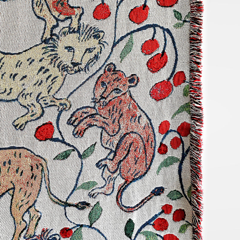 Pomegranate Lions Blanket