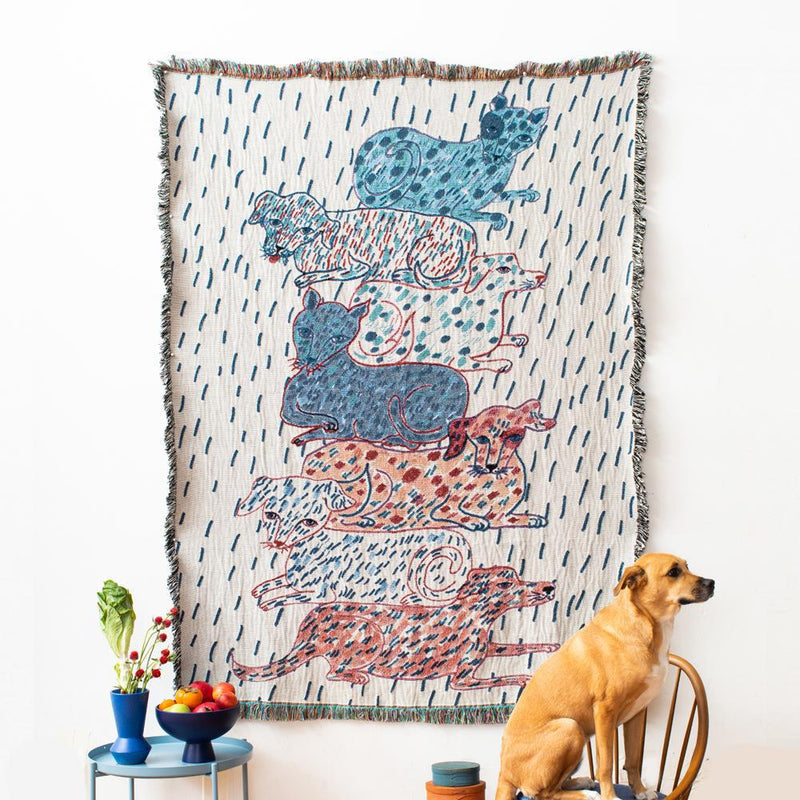 Sprinkled Dogs and Cats Totem Blanket