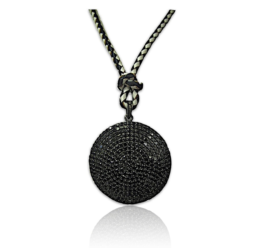 Black Spinel Mougins Pendant