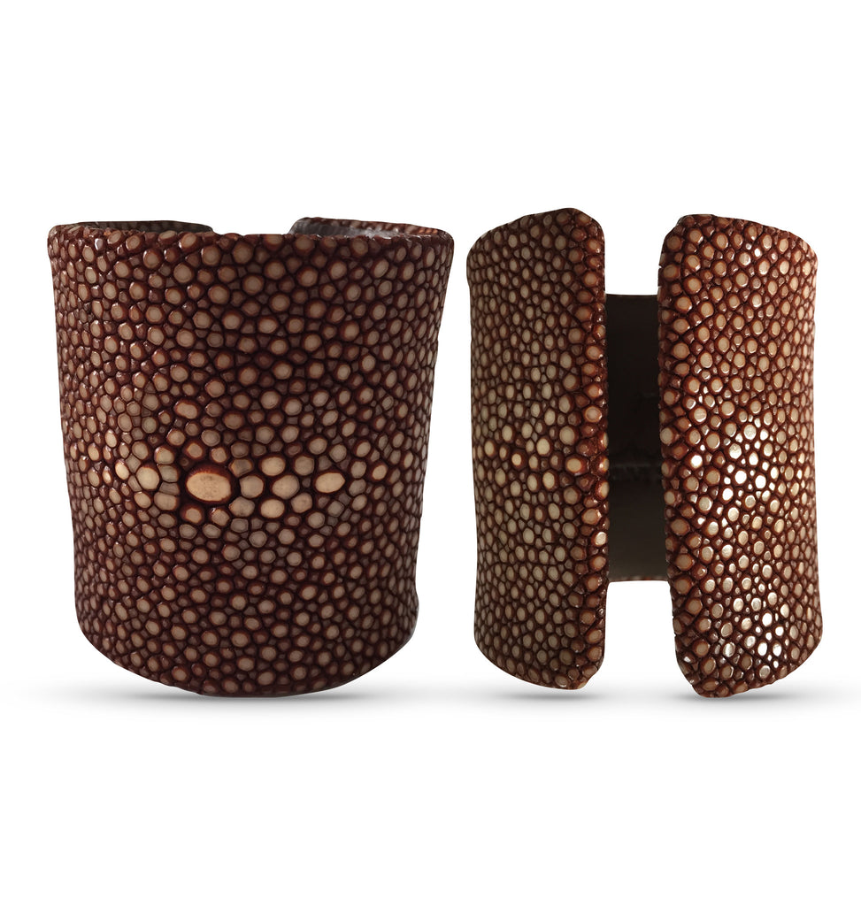Copper Stingray Soft Leather Cuff, 70mm