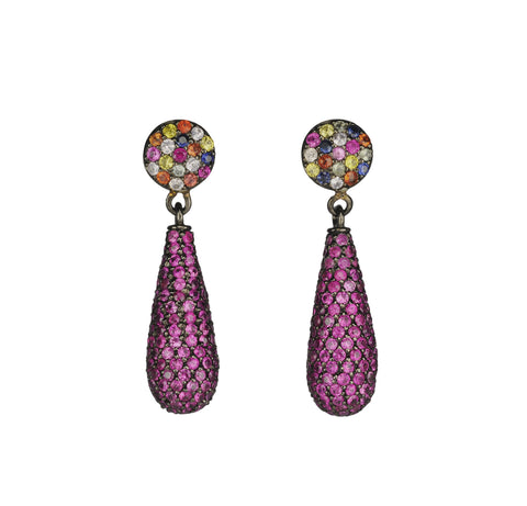 Mougins Pink Sapphire Pave` Drops