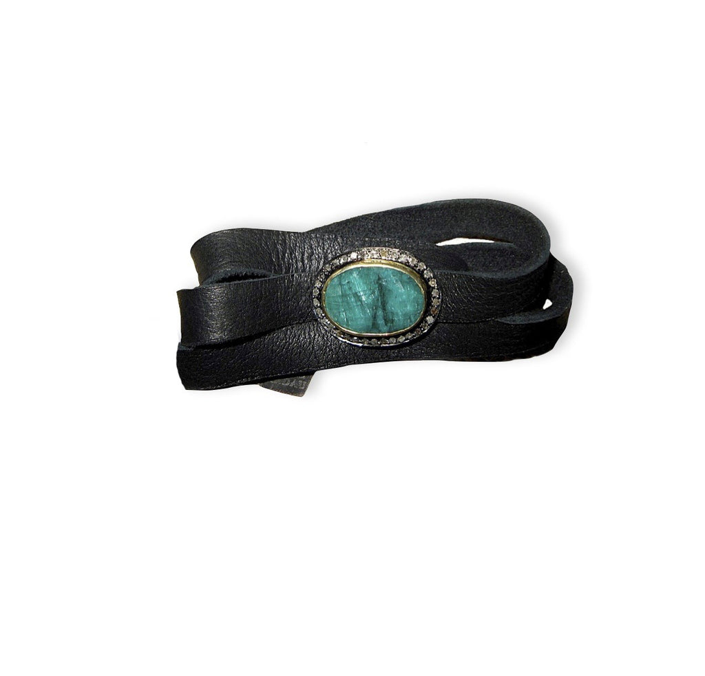 Emerald Confection Leather Wrap