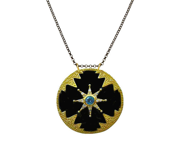 Star Power! Enamel and Diamond Pendant