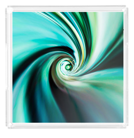 """The Tide is High"" Turquoise Swirl Tray"