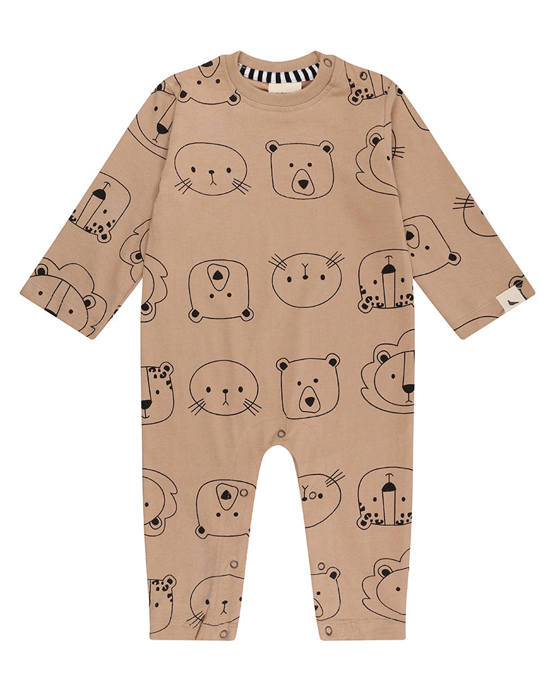 Turtledove London Cub Faces Playsuit
