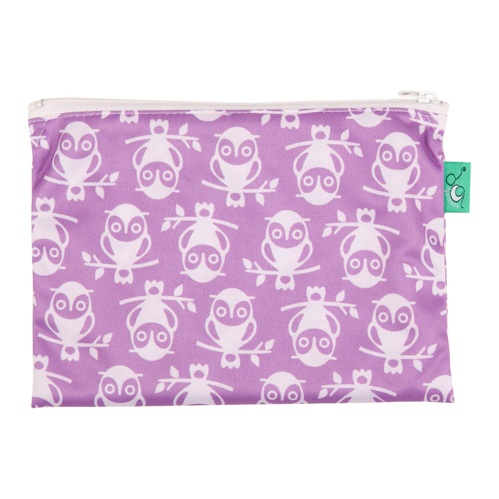 TotsBots Reusable Wet Wipe Waterproof Bag - Owlbert