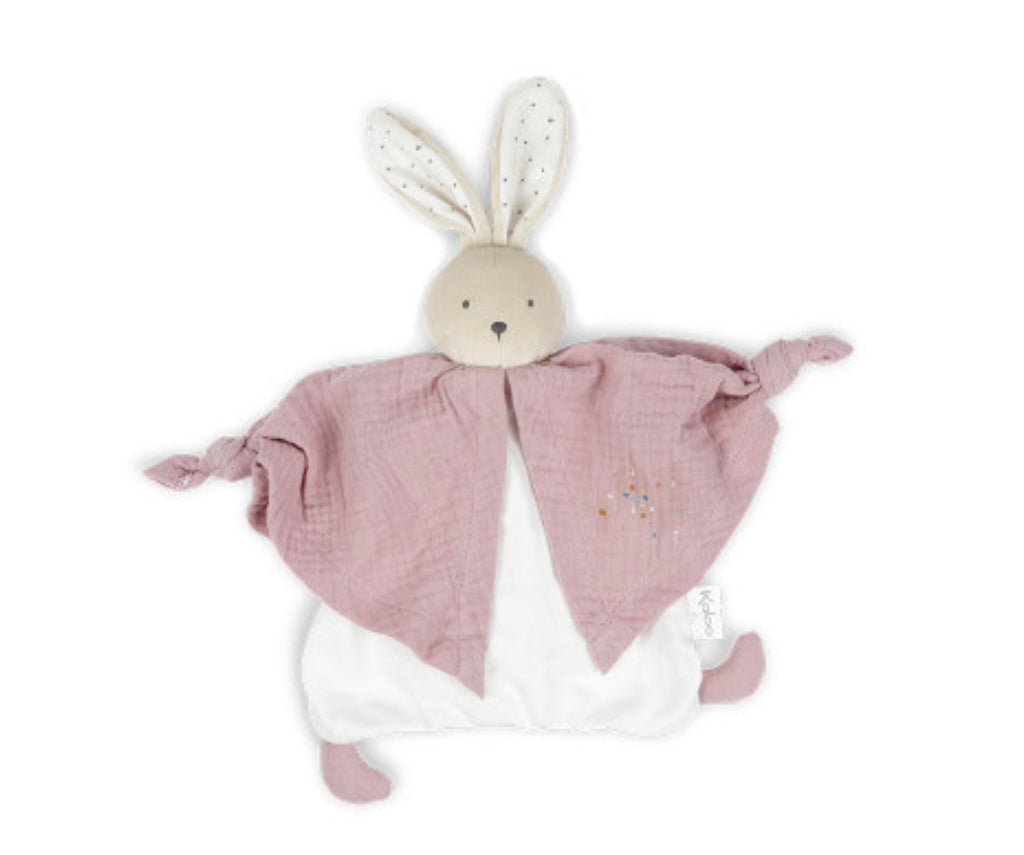 Organic Cotton Doudou Rabbit - Pink: Petit Pas