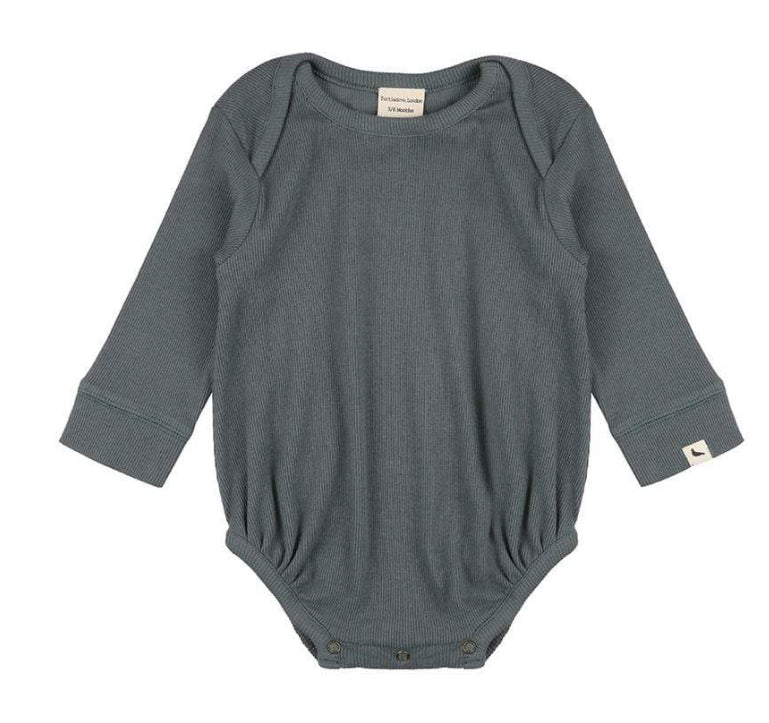 Turtledove London Rib Bodysuit Steel