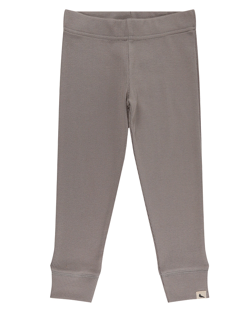 Turtledove London Grey Rib Leggings