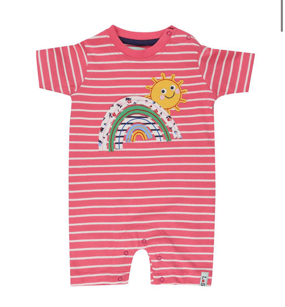 Lilly & Sid Applique Rainbow Romper