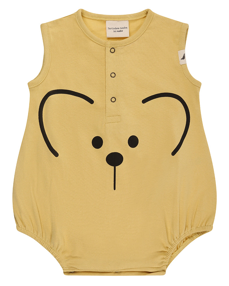 Turtledove London Mouse Face Bubble Romper