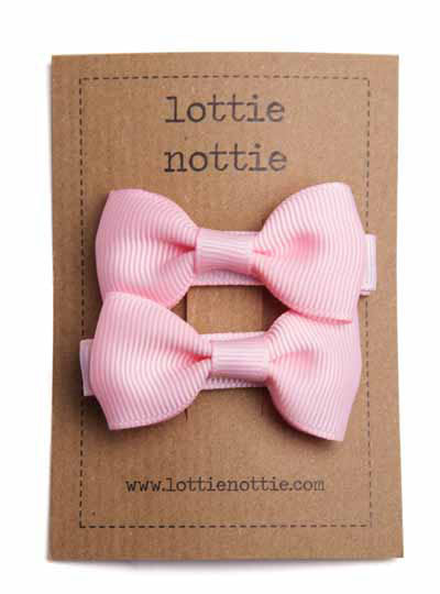 Solid Bows Light Pink - Hair Clips