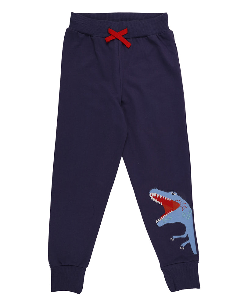 Lilly & Sid Dino appliqué joggers