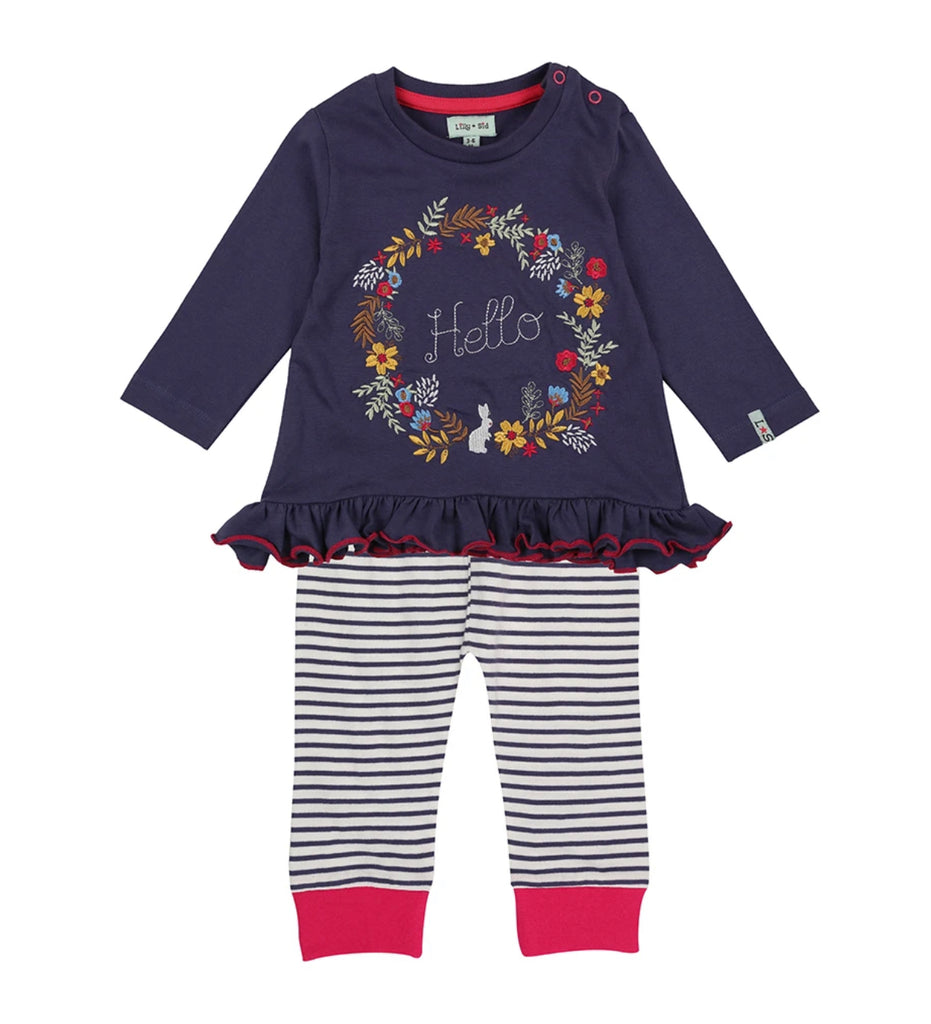 Lilly & Sid Hello Top & Leggings Set