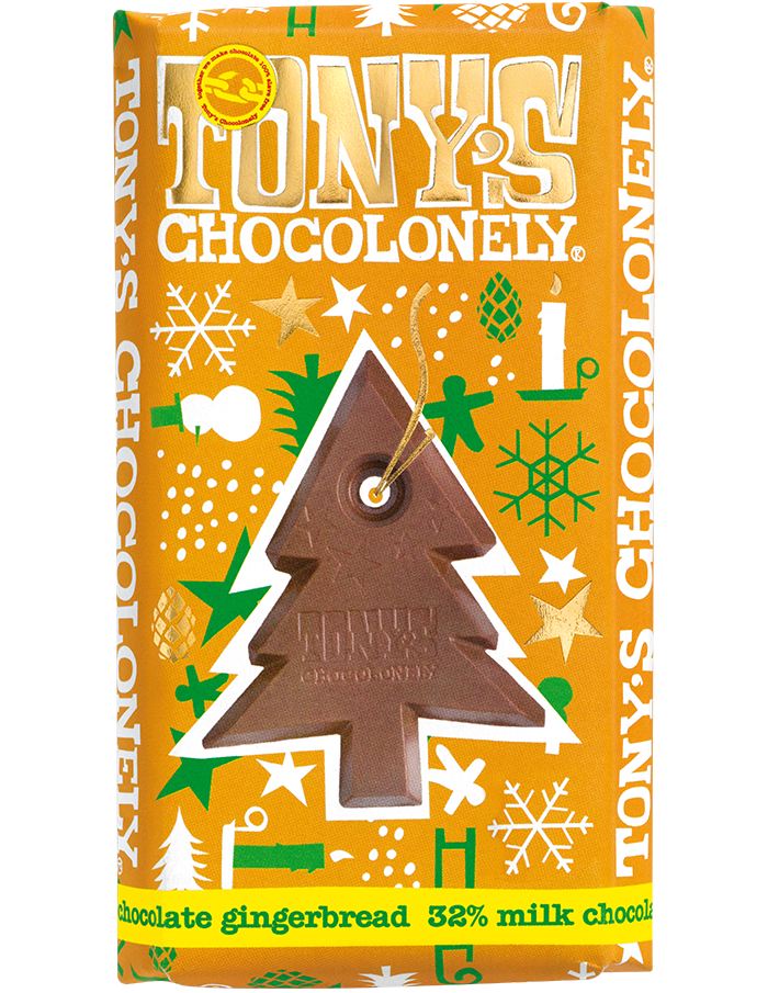 Tony's Chocolonely Milk Chocolate Gingerbread Big Bar