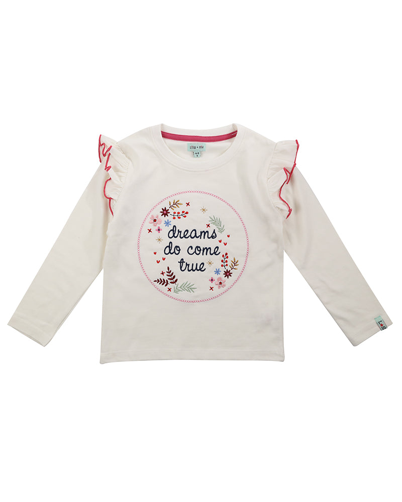 Lilly & Sid Dreams embroidered top