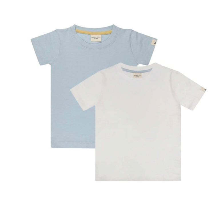 Turtledove London 2 pack Layering T-shirt Ecru/Blue