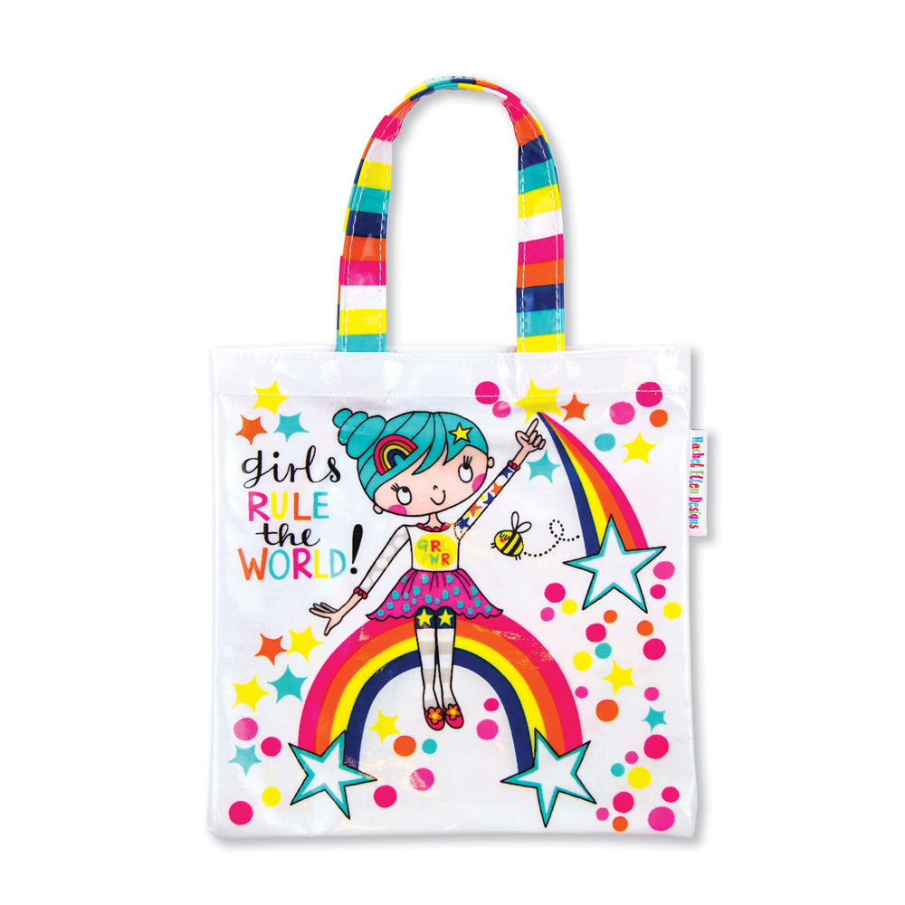 Mini Tote Bag - Girls rule the world/Suki starburst