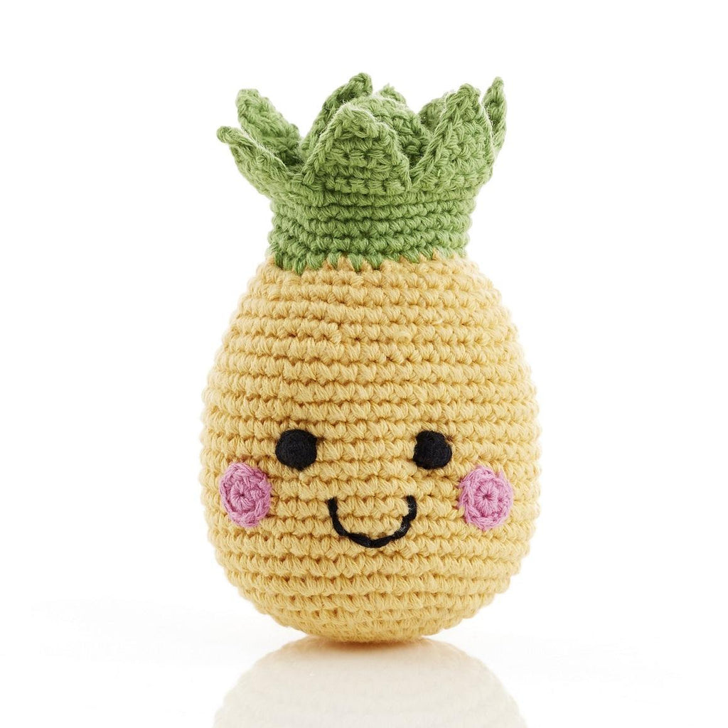 Crochet Cotton Friendly Fruit Pineapple Rattle