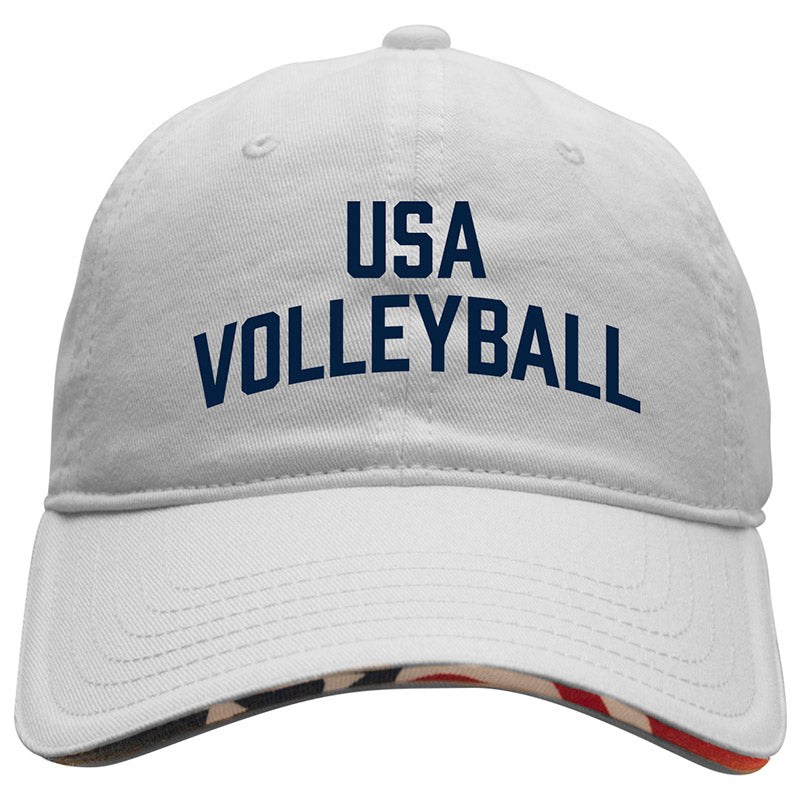 USA Volleyball Americana Hat White Headwear