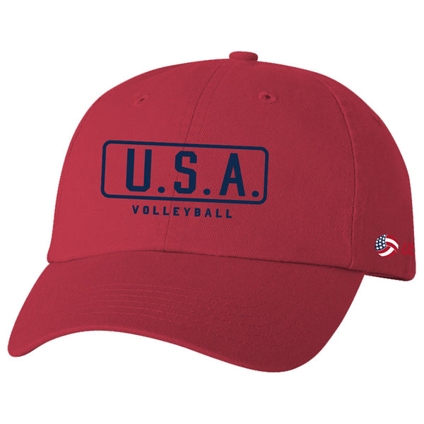 USA Volleyball Classic Hat Red Headwear
