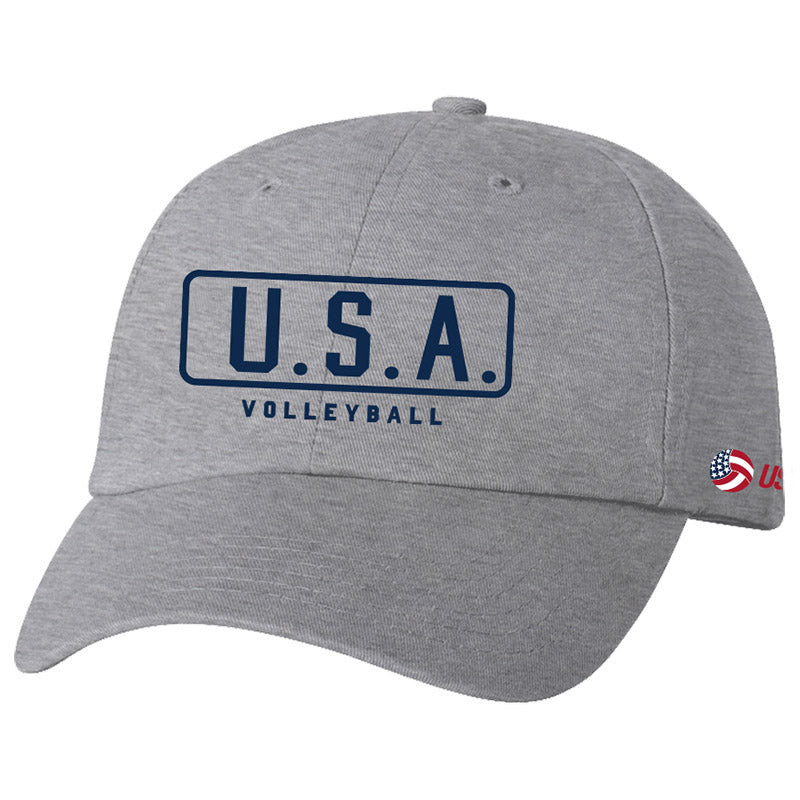 USA Volleyball Classic Hat Lt Gray Headwear
