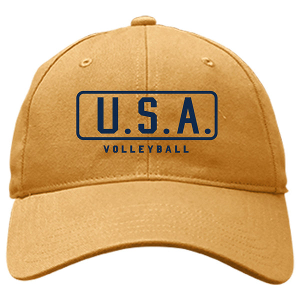 USA Volleyball Classic Hat Gold Headwear