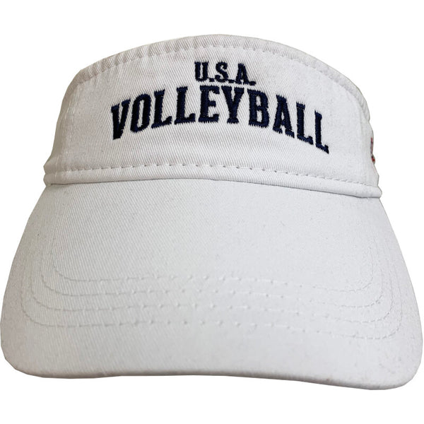 USA Volleyball Visor White Headwear