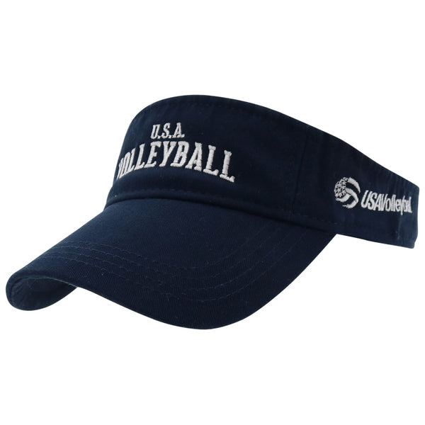 USA Volleyball Visor Navy Headwear