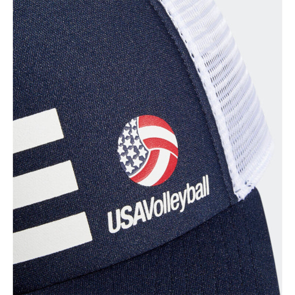 USA Volleyball Adidas 3 Stripe Trucker Hat