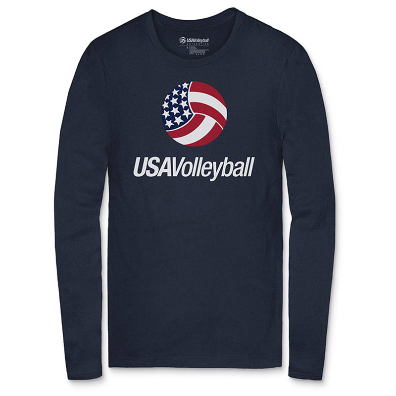 USA Volleyball Primary Logo Long Sleeve T-Shirt