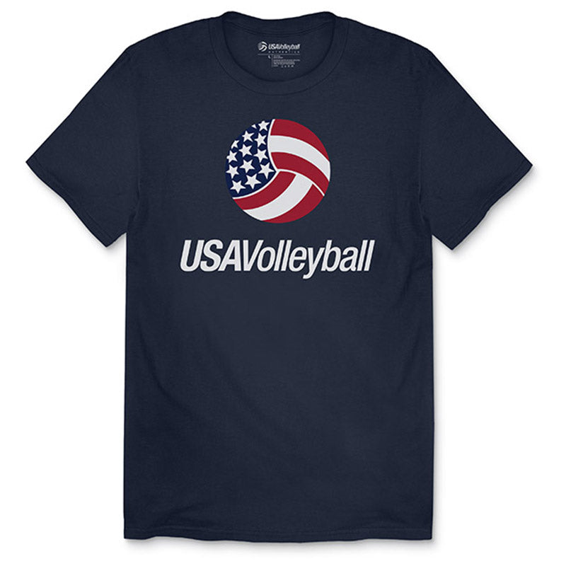 USA Volleyball Primary Logo T-Shirt