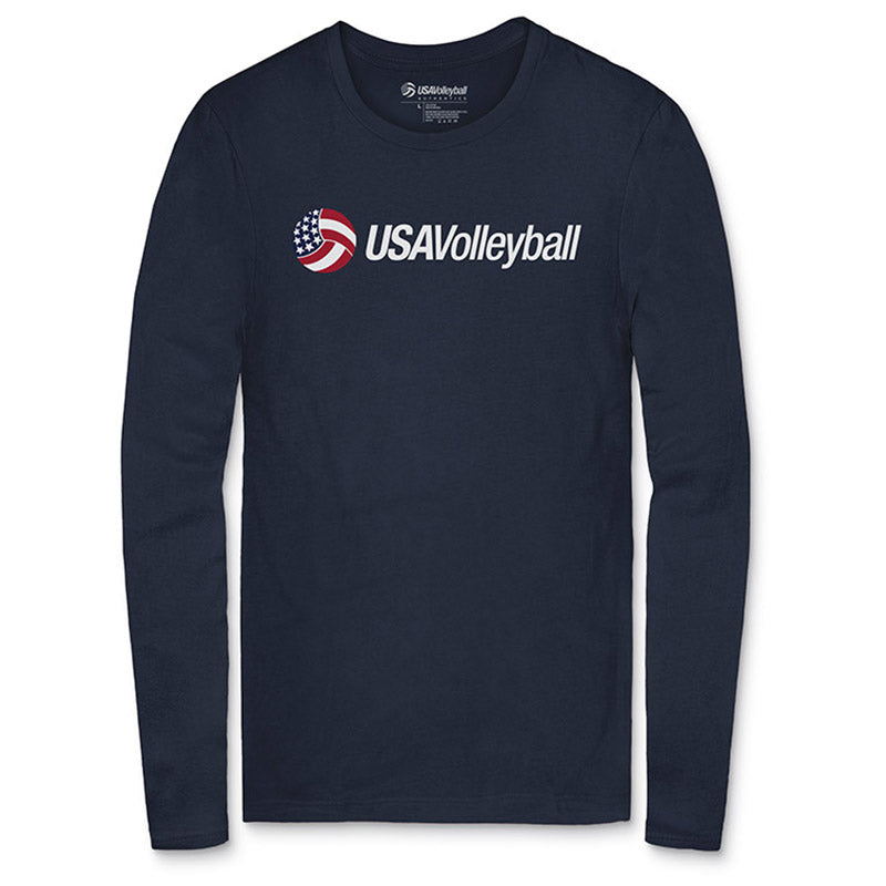 USA Volleyball Secondary Logo Long Sleeve T-Shirt