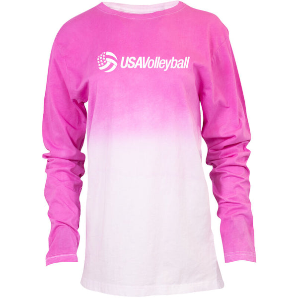 USA Volleyball Dip Dye Long Sleeve T-Shirt