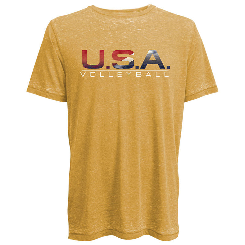 USA Volleyball Burnout Crew Neck T-Shirt