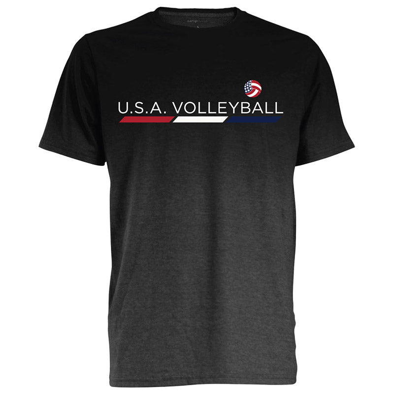 USA Volleyball Dip Dyed Heather T-Shirt