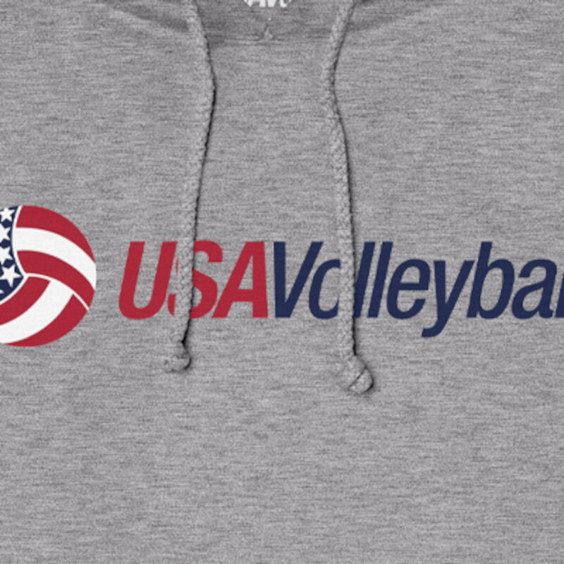 USA Volleyball Secondary Logo Unisex Fleece Pullover Hoodie