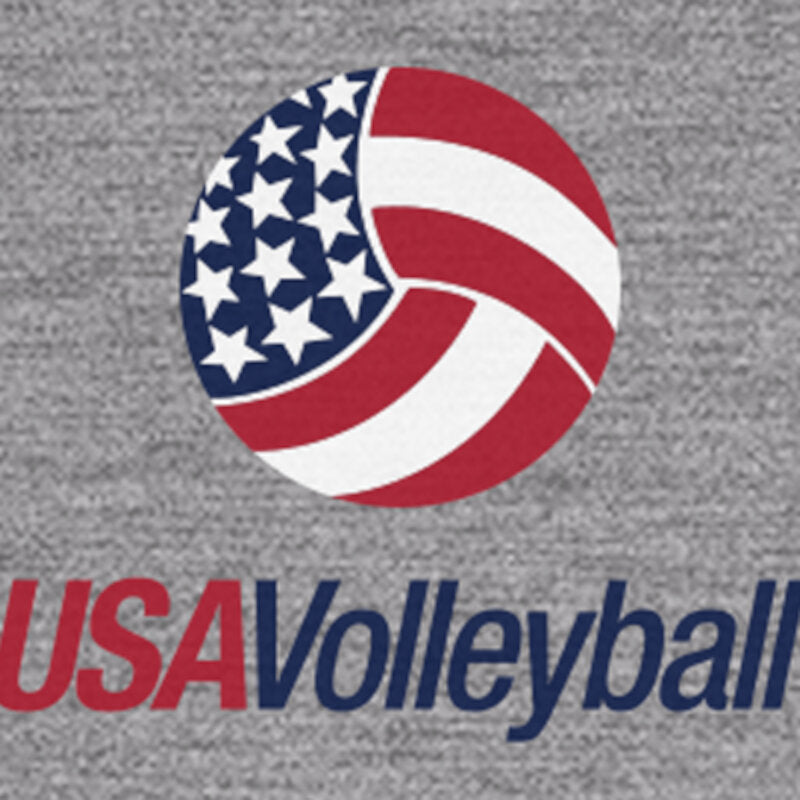 USA Volleyball Countrywide Logo Unisex Sueded Short Sleeve T-Shirt