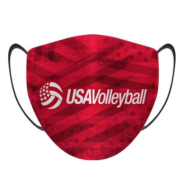 USA Volleyball Flag Face Mask