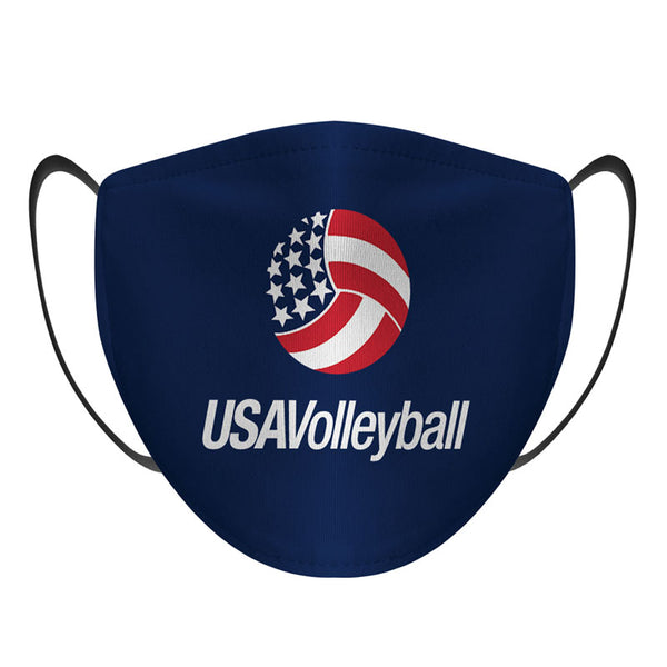 USA Volleyball Solid Face Mask