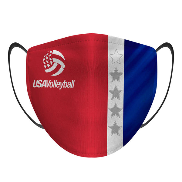 USA Volleyball Stars and Stripes Face Mask