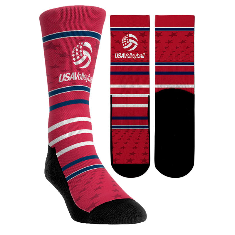 USA Volleyball Stars and Stripes Socks