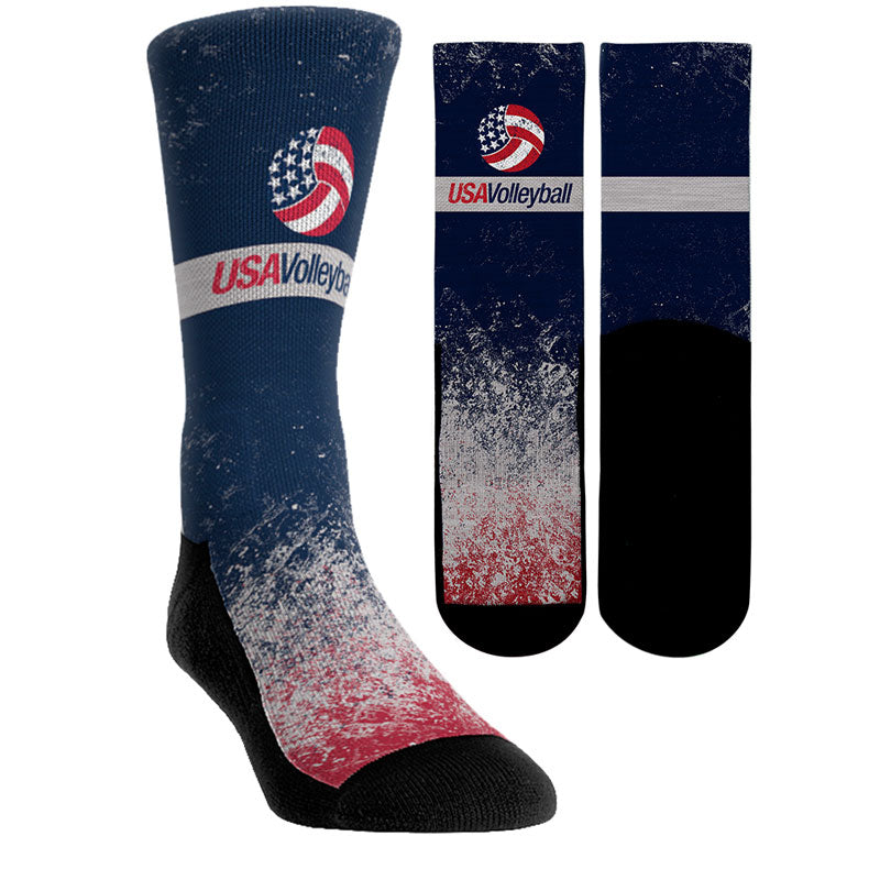 USA Volleyball Vintage Socks